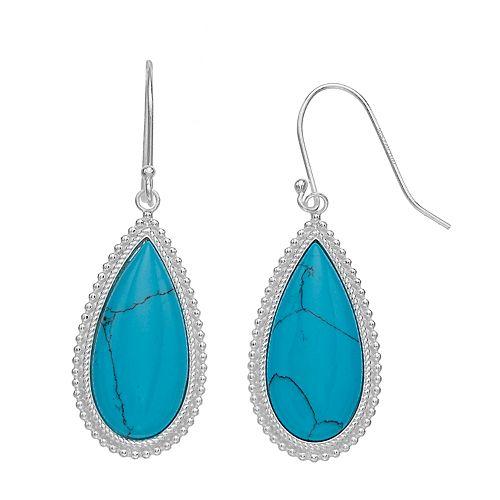 Aleure Precioso Sterling Silver Teardrop Earrings