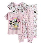 Disney's Mickey Mouse Toddler Girl Graphic Tees and Pajama Pants Set