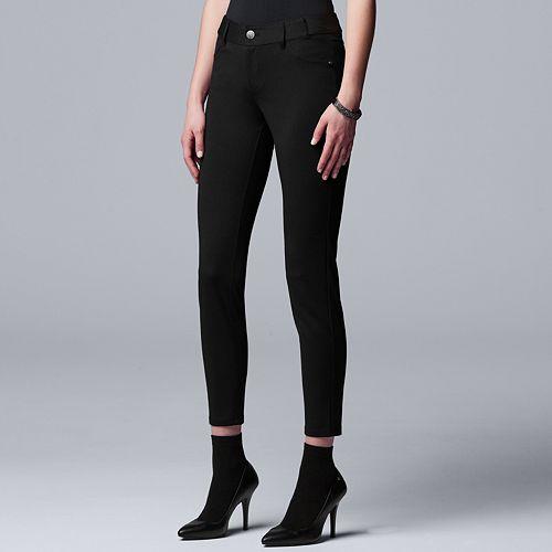 Petite Simply Vera Vera Wang Ponte Skinny Pants