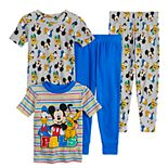 Disney's Mickey Mouse & Friends Toddler Boy 4 Piece Cotton Pajama Set