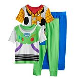 Disney's Toy Story Buzz & Woody Toddler Boy Uniform Tops & Bottoms Pajama Set