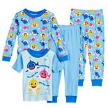 Toddler Boy Baby Shark 4 Piece Cotton Pajama Set