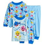 Baby Boy 4 Piece Baby Shark Pajama Set
