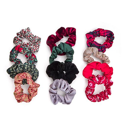 12 Days Of Scrunchies Christmas Color Set