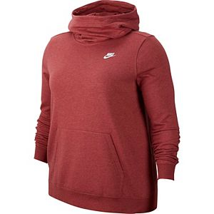 Plus Size Nike Funnel-Neck Fleece Hoodie