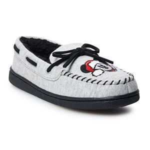 Disney's Mickey Mouse Boys' Moccasin Slippers