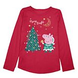 Toddler Girl Jumping Beans® Peppa Pig Holiday Graphic Tee
