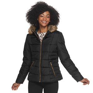 Women's Celebrity Pink Hooded Puffer Jacket