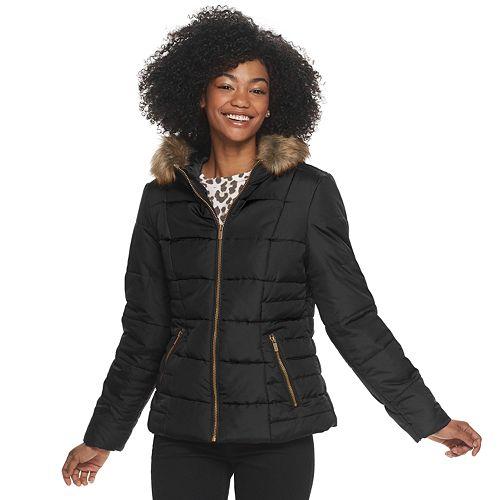 Women's Celebrity Pink Hooded Puffer Jacket