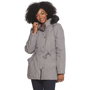 Women's Celebrity Pink Hooded Anorak Parka