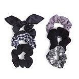 SO® Plaid & Solid Scrunchie Set