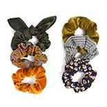 SO® Velvet & Multi Print Scrunchie Set