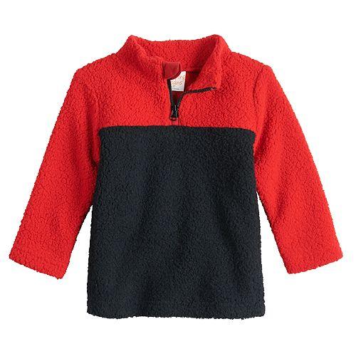 Baby Boy Jumping Beans® Sherpa Quarter-Zip Sweater