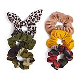 SO® Leopard Print & Camo Print Scrunchie Set