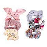 SO® Floral Print & Metallic Scrunchie Set