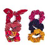 SO® Floral Print & Striped Scrunchie Set