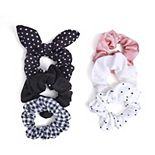 SO® Polka Dots & Plaid Scrunchie Set