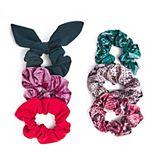 SO® Multi Colored Snake Print Scrunchie Set