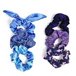 SO® Mermaid Chrome & Tie Dye Scrunchie Set