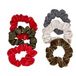 6-Piece Hair Scrunchie Mix Packaged Set