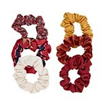 6-Piece Print & Solid Hair Scrunchies Packaged