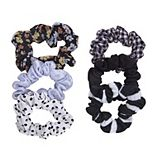 6-Piece Patterned Hair Scrunchies Packaged