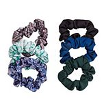 6-Piece Dark & Patterned Hair Scrunchies Packaged