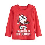 "Toddler Boy Jumping Beans© Snoopy ""Here For The Cookies"" Long Sleeve Tee"