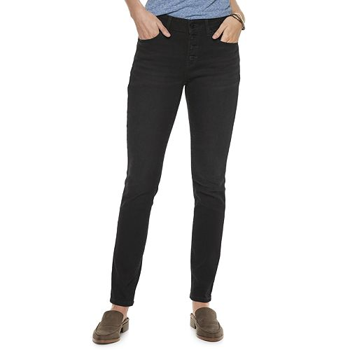 Petite SONOMA Goods for Life™ Button-Fly Skinny Jeans
