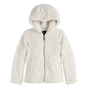 Girls 7-16 madden NYC Cozy Hooded Zip-Up Front Jacket