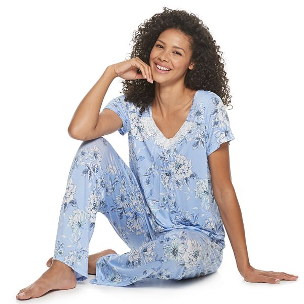 Women's Croft & Barrow® Pajama Top & Pajama Pants Set