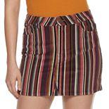 Juniors' Rewind Striped Corduroy Skirt