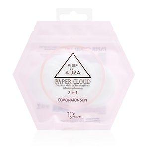 Pure Aura Paper Cloud Cleansing Foam & Makeup Remover - Combination Skin