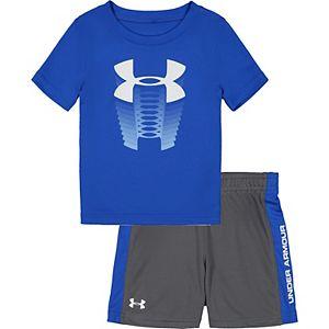 Baby Boy Under Armour Rising Logo Tee & Shorts Set