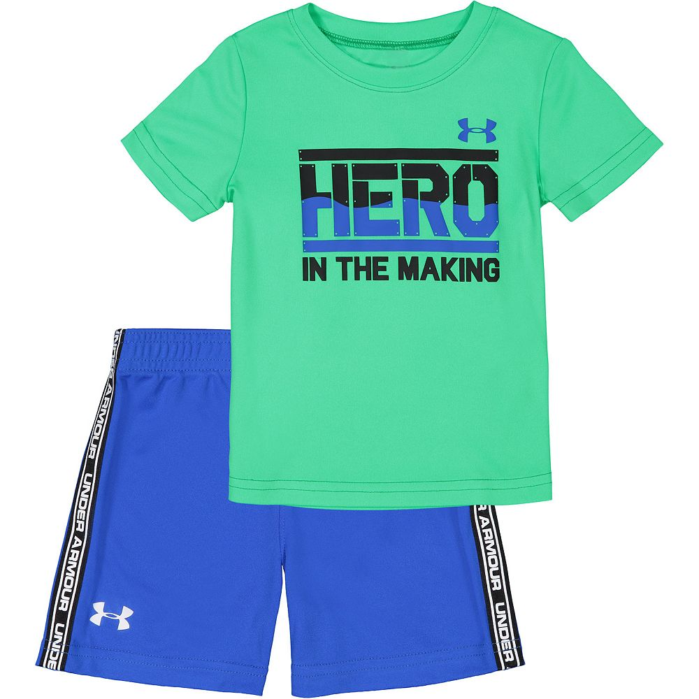 Baby Boy Under Armour Hero In The Making Shorts & Tee Set