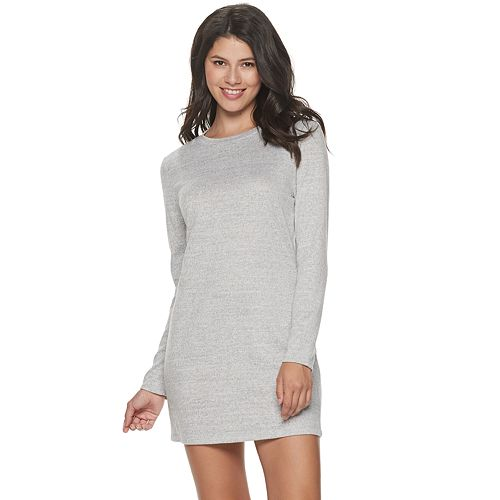 Juniors' Speechless Long Sleeve Solid Color Bodycon Dress