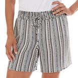 Women's Apt. 9® Pull-On Faux Front Tie Shorts