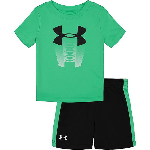 Baby Boy Under Armour Logo 2-Piece Tee and Short Set