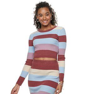 Juniors' Love, Fire Striped Sweater