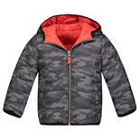 Boys 4-7 Carter's Reversible Bubble Jacket