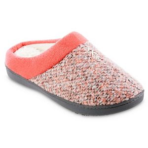 Women's isotoner Jessie Tweed Marisol Hoodback Slippers