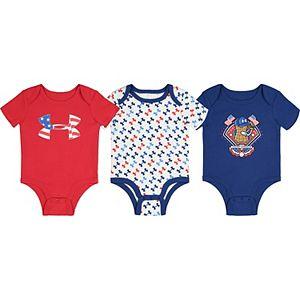 Baby Boy Under Armour Americana Bodysuits 3pk