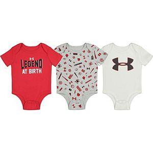 Baby Boy Under Armour Legend at Birth Bodysuits 3pk