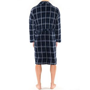 Men's Residence Fancy Plush Fleece Shawl Robe