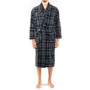 Men's Residence Fancy Plush Fleece Shawl Robe