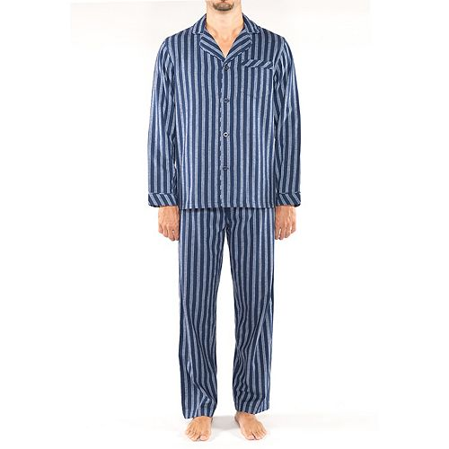 Men's Residence Patterned Flannel Pajama Set