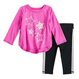 Baby Girl Jumping Beans® Long Sleeve Active Tee Set