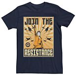 Men's Star Wars Rey Join The Resistance Poster Tee