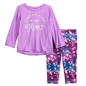 Baby Girl Jumping Beans® Active Graphic Tunic & Leggings Set