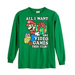 Boys 8-20 Nintendo Mario Christmas Graphic Tee